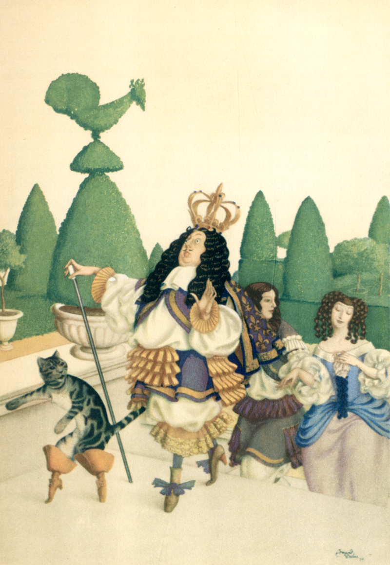 'Puss in Boots' A Fairy Garland being Fairy Tales from the Old French, 1928. Illustrated by Edmund Dulac