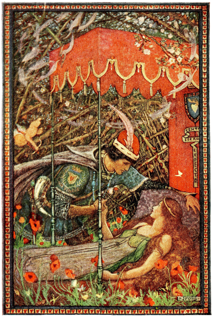 'Sleeping Beauty' - The Blue Fairy Book, 1922 illustrated by H. J. Ford