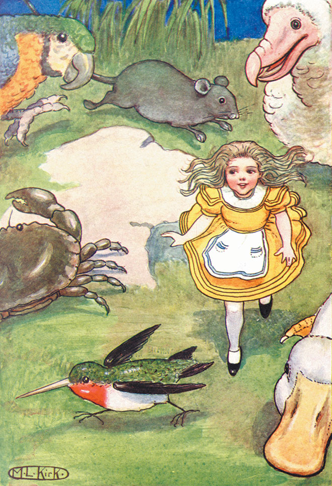 Alice's Adventures in Wonderland, M. L. Kirk, 1904.
