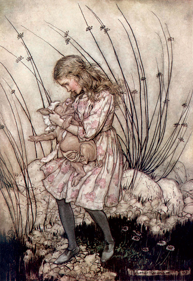Alice's Adventures in Wonderland, Arthur Rackham, 1907.