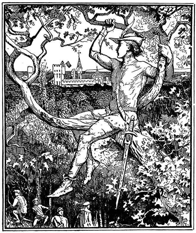 The Red Fairy Book, H. J. Ford, 1890.