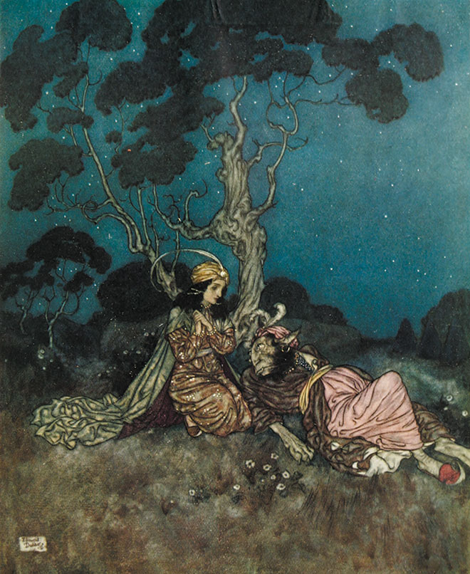 Beauty and the Beast by Edmund Dulac