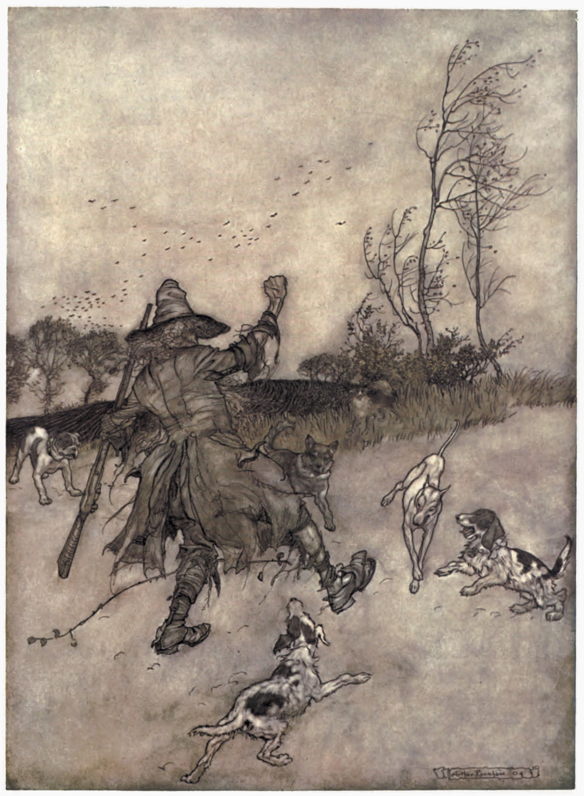 From Rip Van Winkle by Arthur Rackham