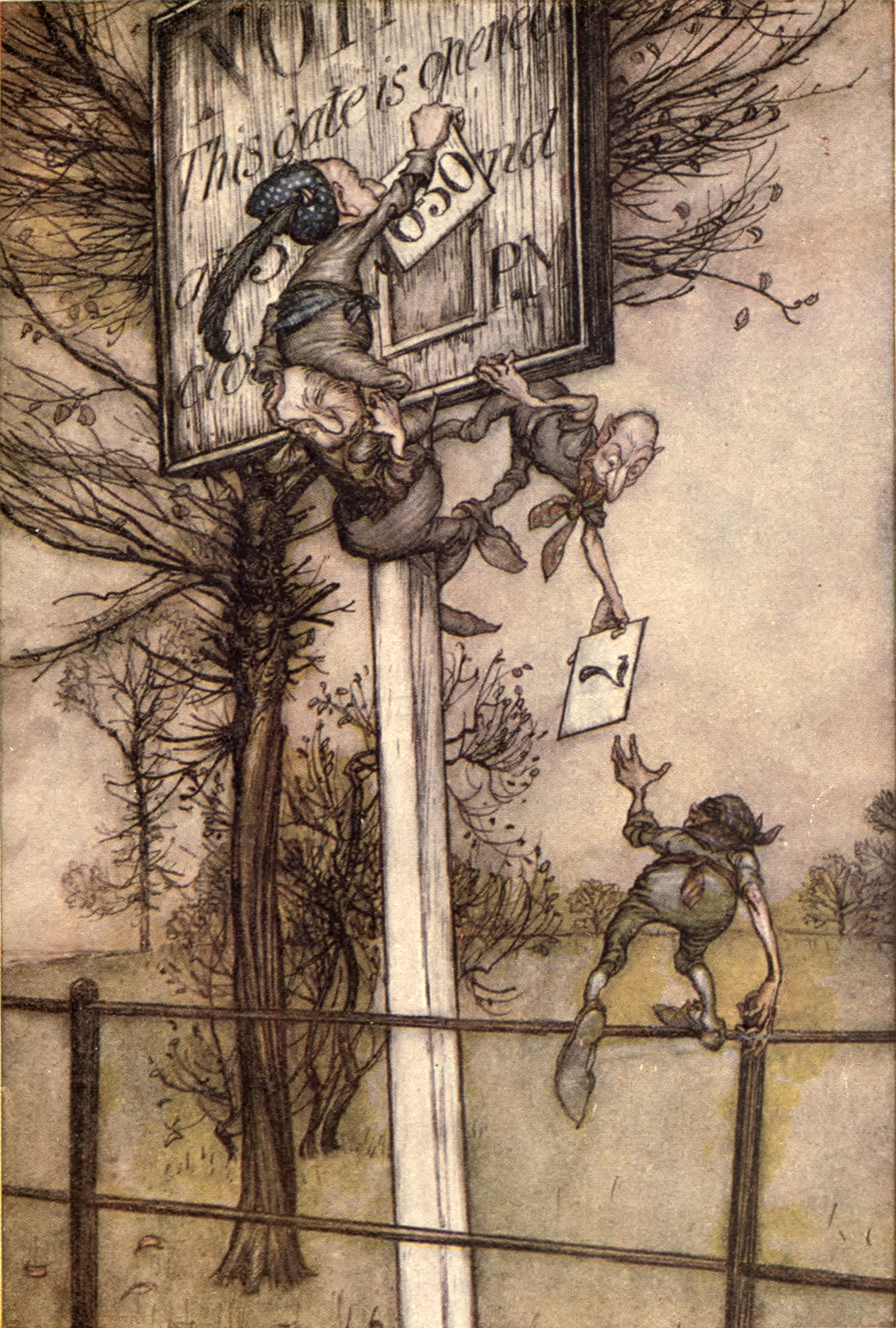 Peter Pan in Kensington Gardens, Arthur Rackham, 1906.