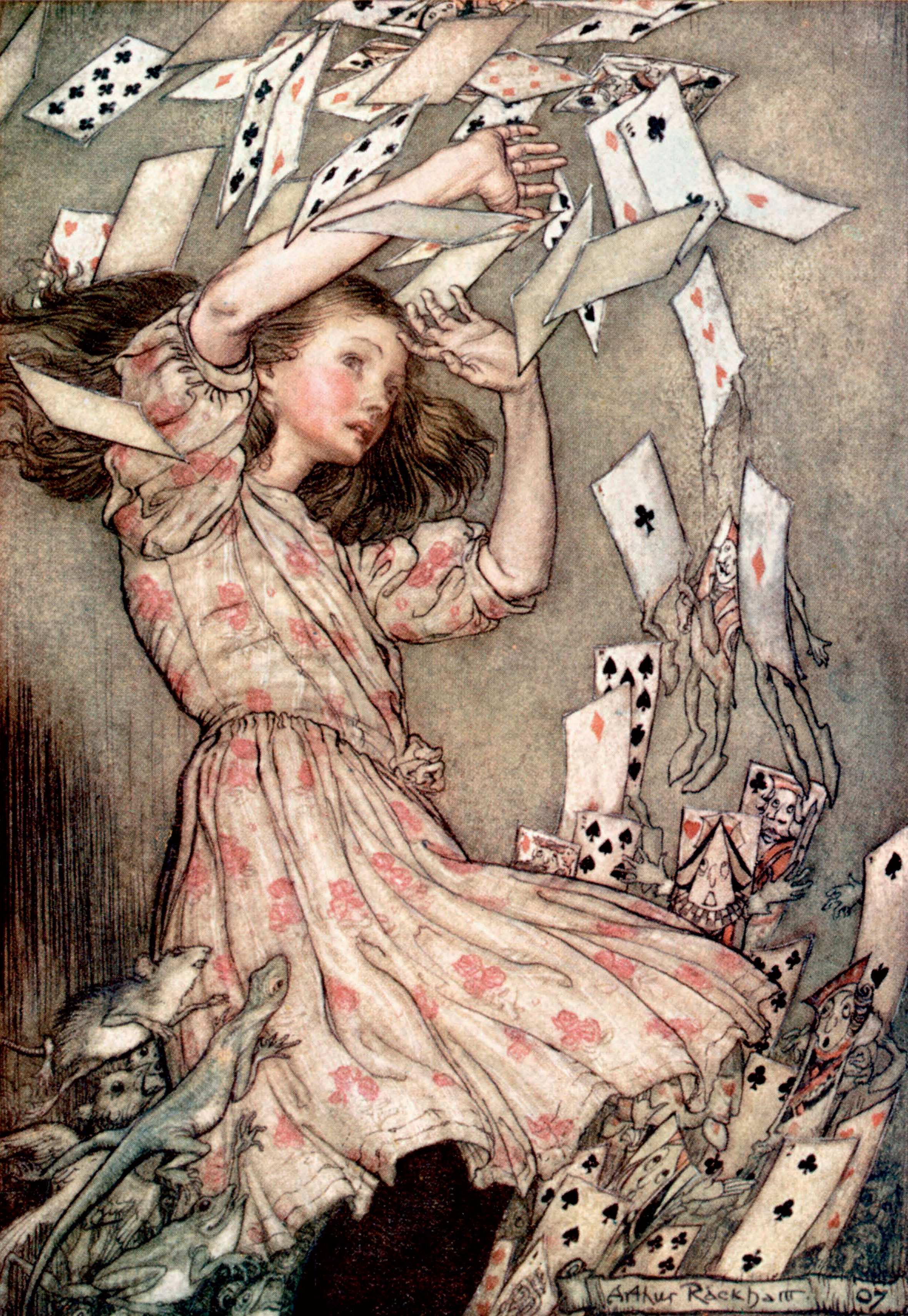 From Alice's Adventures in Wonderland by Arthur Rackham, 1907.