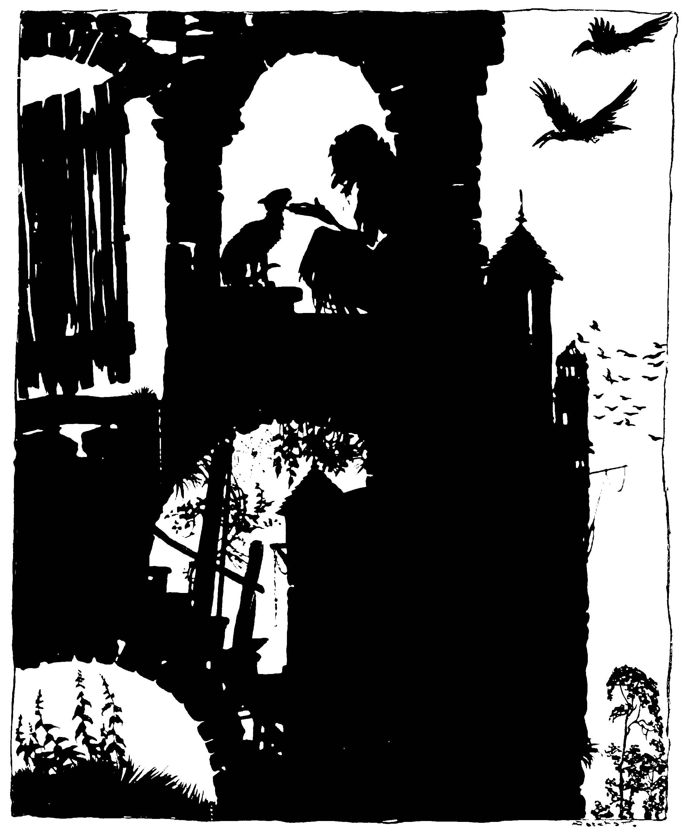 From The Sleeping Beauty by Arthur Rackham, 1920.