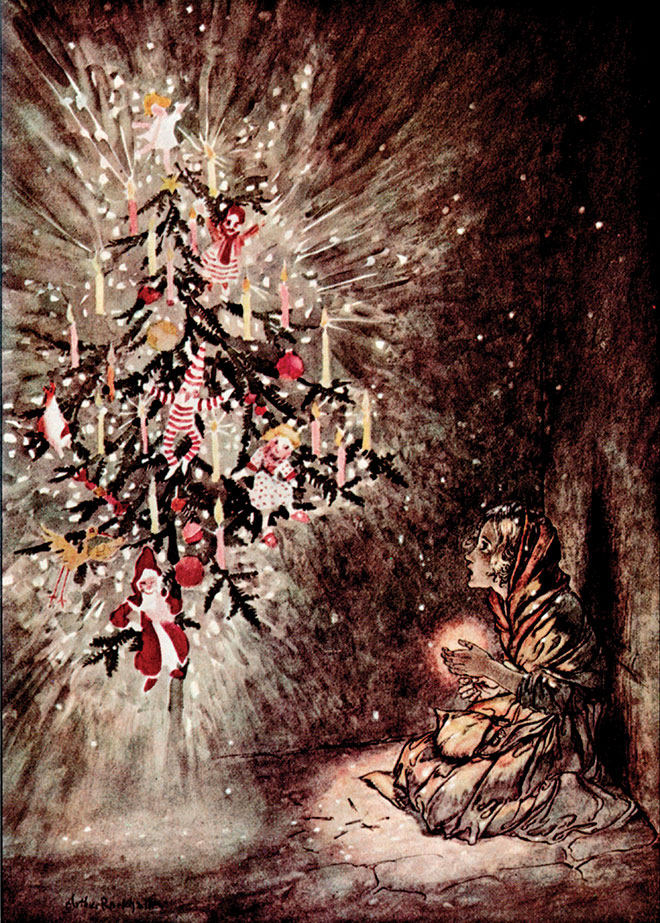 From Fairy Tales by Hans Christian Andersen, Arthur Rackham, 1932.