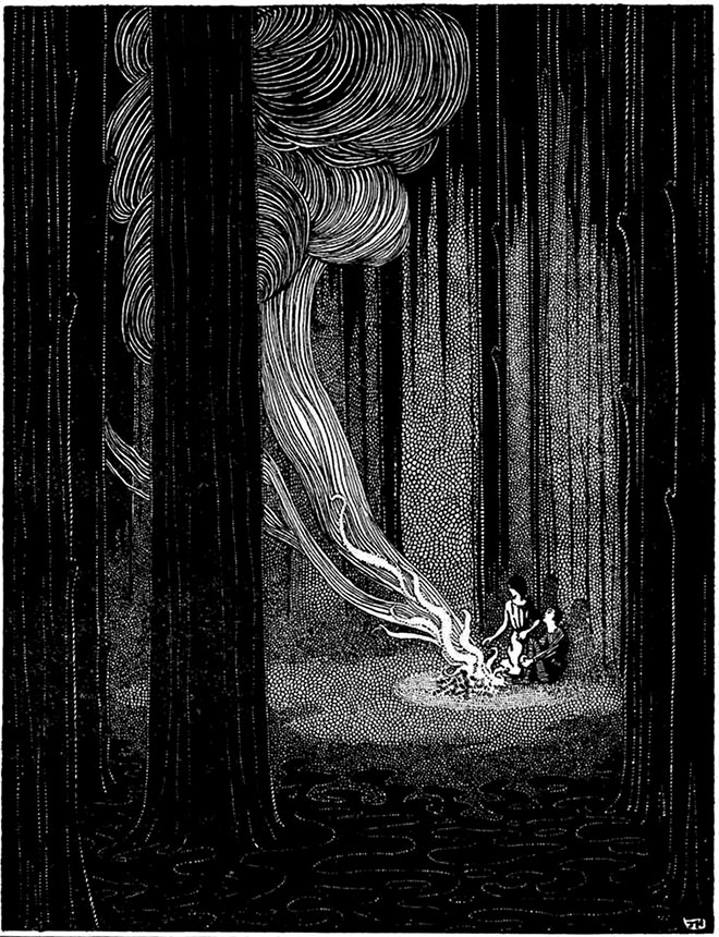 'Hansel and Gretel' - My Book of Favourite Fairy Tales, Jennie Harbour, 1921.