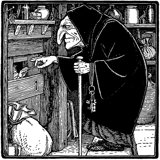 'Hansel and Gretel' - European Folk and Fairy Tales, John D. Batten, 1913.