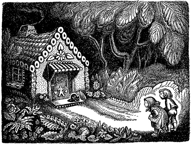 'Hansel and Gretel' - Tales From Grimm, Wanda Gag, 1936.