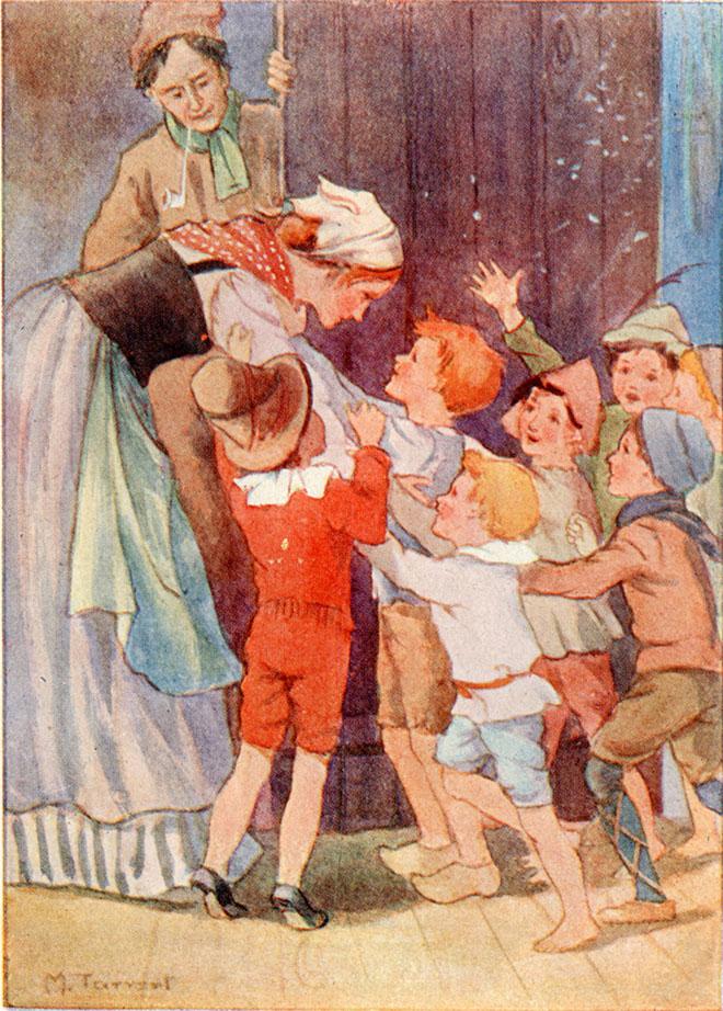 'Hop O' My Thumb' - Contes de Perrault, Margaret Tarrant, 1910.