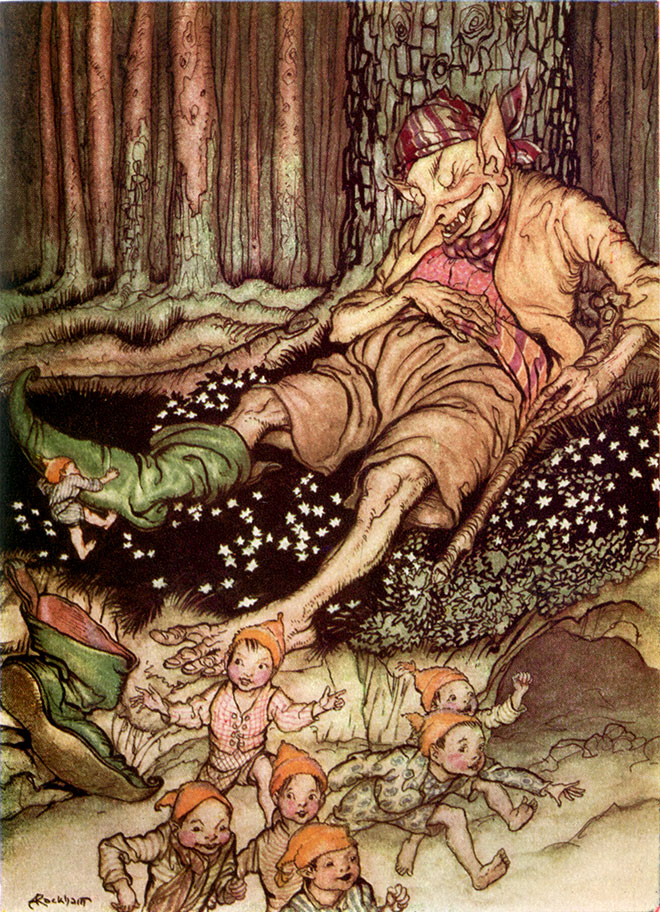 From The Arthur Rackham Fairy Book by Arthur Rackham, 1933.