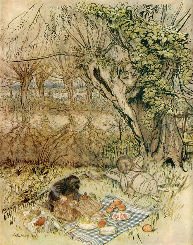 From The Wind in the Willows by Arthur Rackham, 1940.
