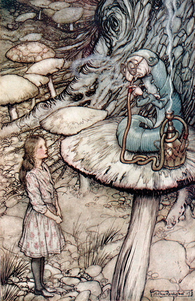 Alice's Adventures in Wonderland by Arthur Rackham, 1907.