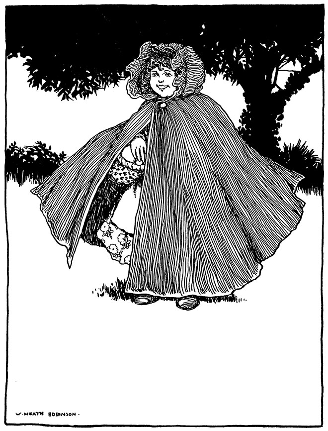 'Little Red Riding Hood' - Old Time Stories, W. Heath Robinson, 1921.