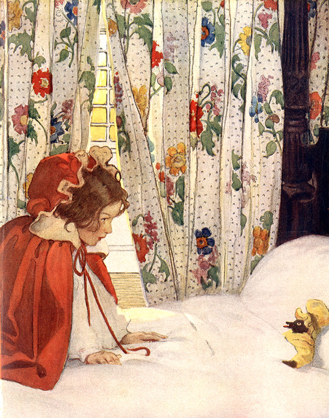 'Little Red Riding Hood' - The Now-A-Days Fairy Book, Jessie Willcox Smith, 1922.