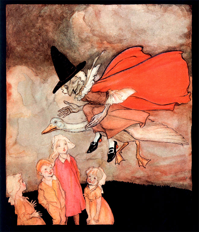 From Mother Goose by Arthur Rackham, 1913.