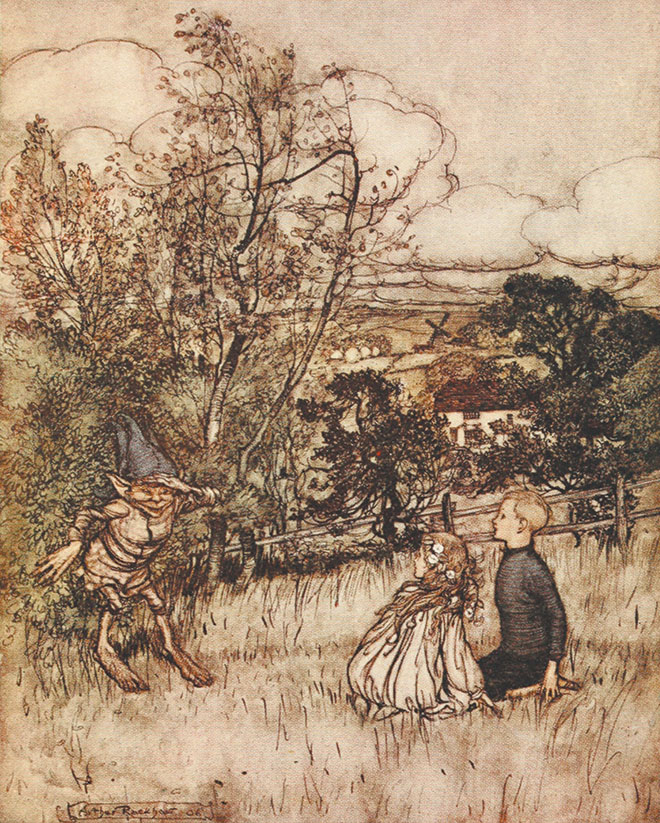 From Puck of Pook's Hill by Arthur Rackham, 1906.