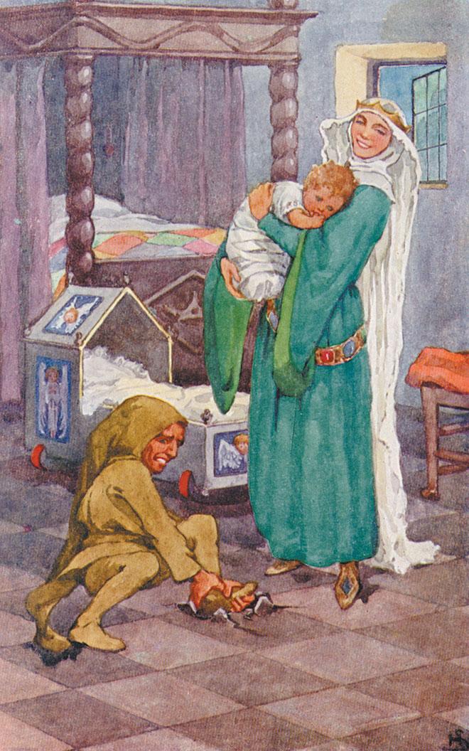 'Rumpelstiltskin' - Grimm's Fairy Tales, Helen Stratton, 1903.