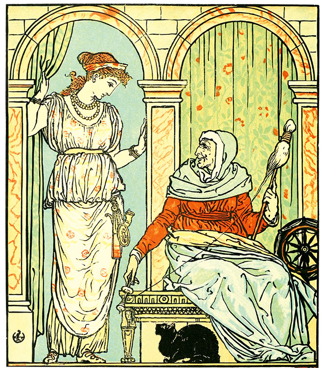 The Sleeping Beauty Picture Book, Walter Crane, 1899.