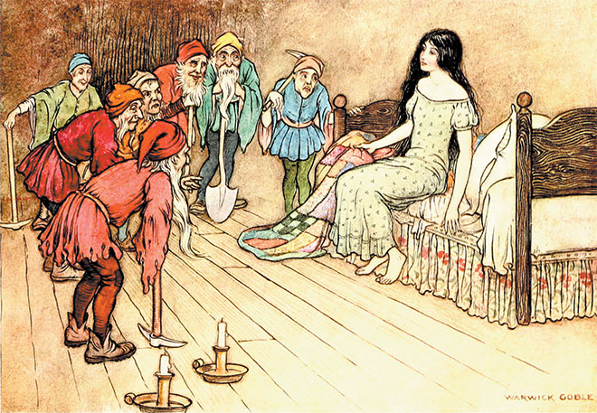 'Snow White' - The Fairy Book, Warwick Goble, 1923.