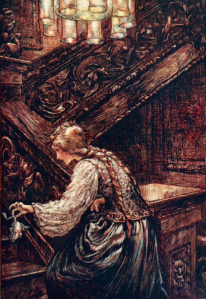 From The Fairy Tales of the Brothers Grimm, Arthur Rackham, 1909.