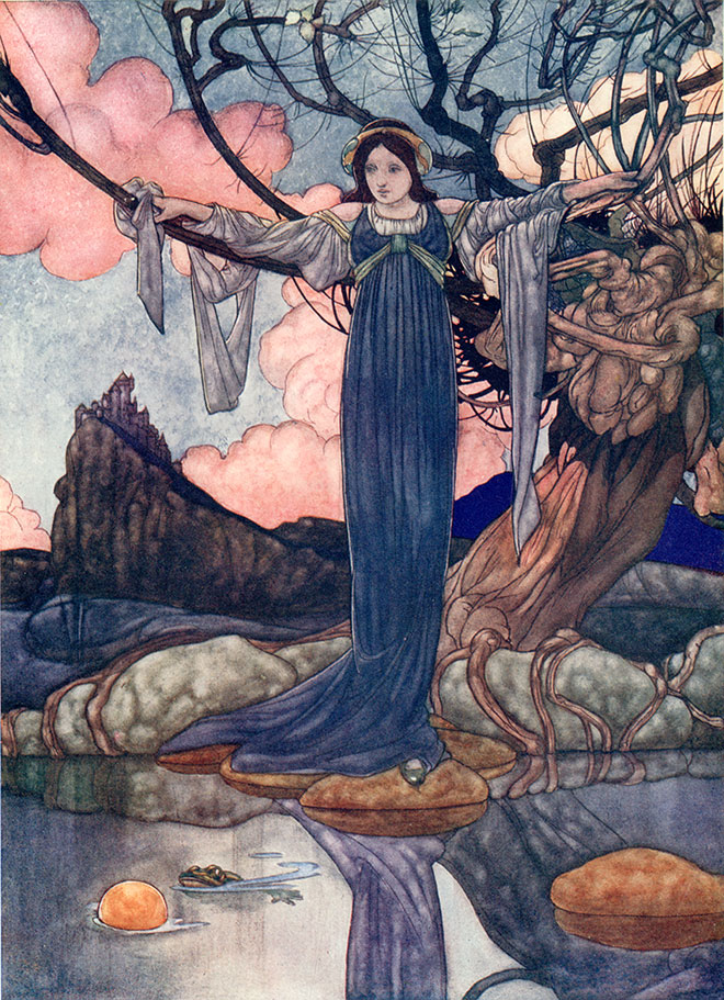 'The Frog Prince' - The Big Book of Fairy Tales, Charles Robinson, 1911.
