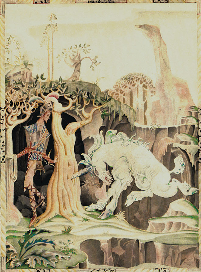 'The Valiant Little Tailor' - Hansel and Gretel and Other Stories, Kay Nielsen, 1925.