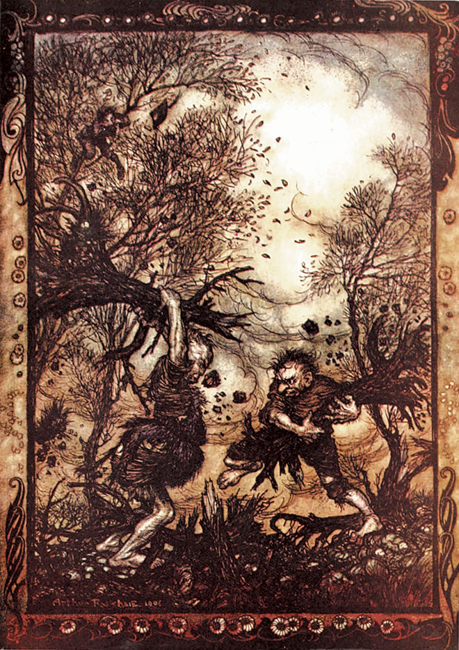 The Fairy Tales of the Brothers Grimm by Arthur Rackham, 1909.