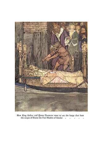 The Romance of King Arthur and his Knights of the Round Table - Illustrated by Arthur Rackham
