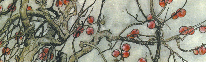 Arthur Rackham's 'A Dish of Apples' for National Apple Day