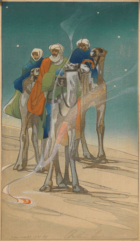 Three Wise Men by Bertha Lum