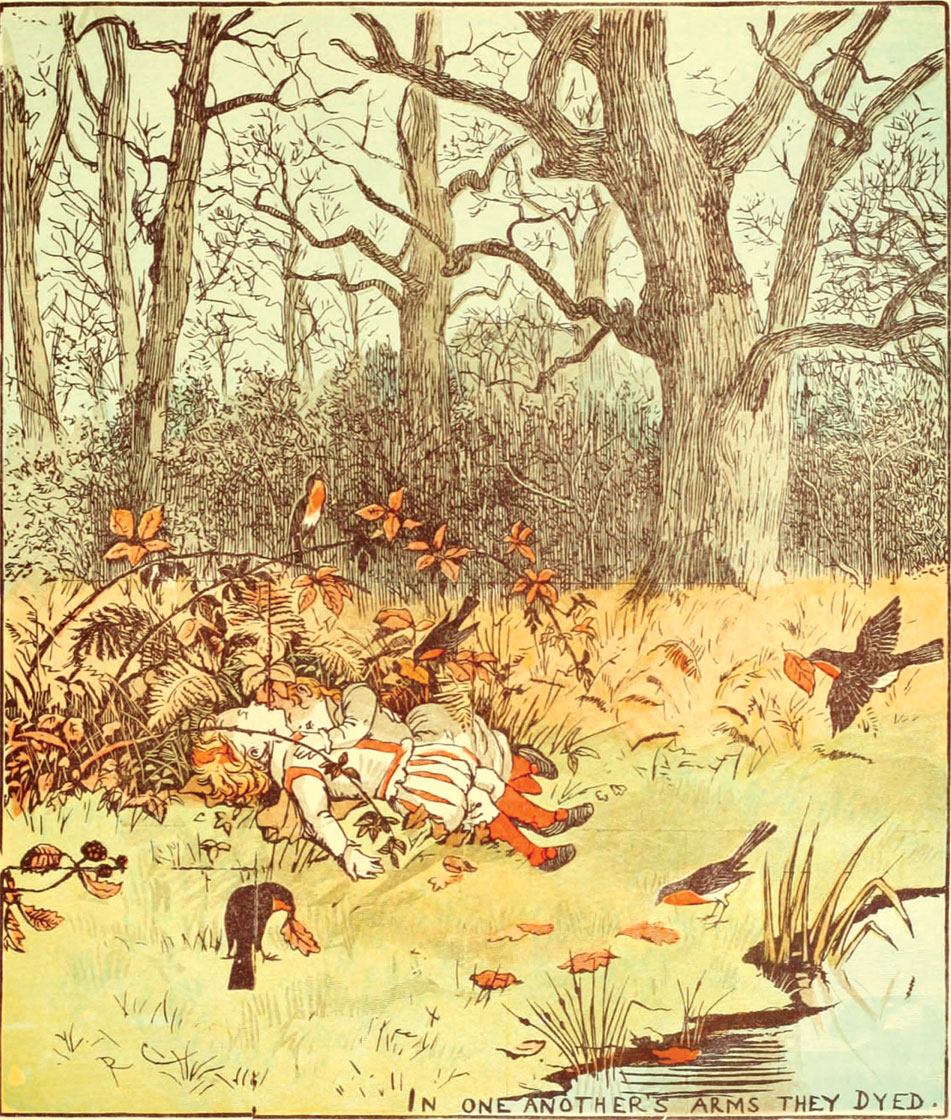 Babes In The Wood Illustration by Randolph Caldecott