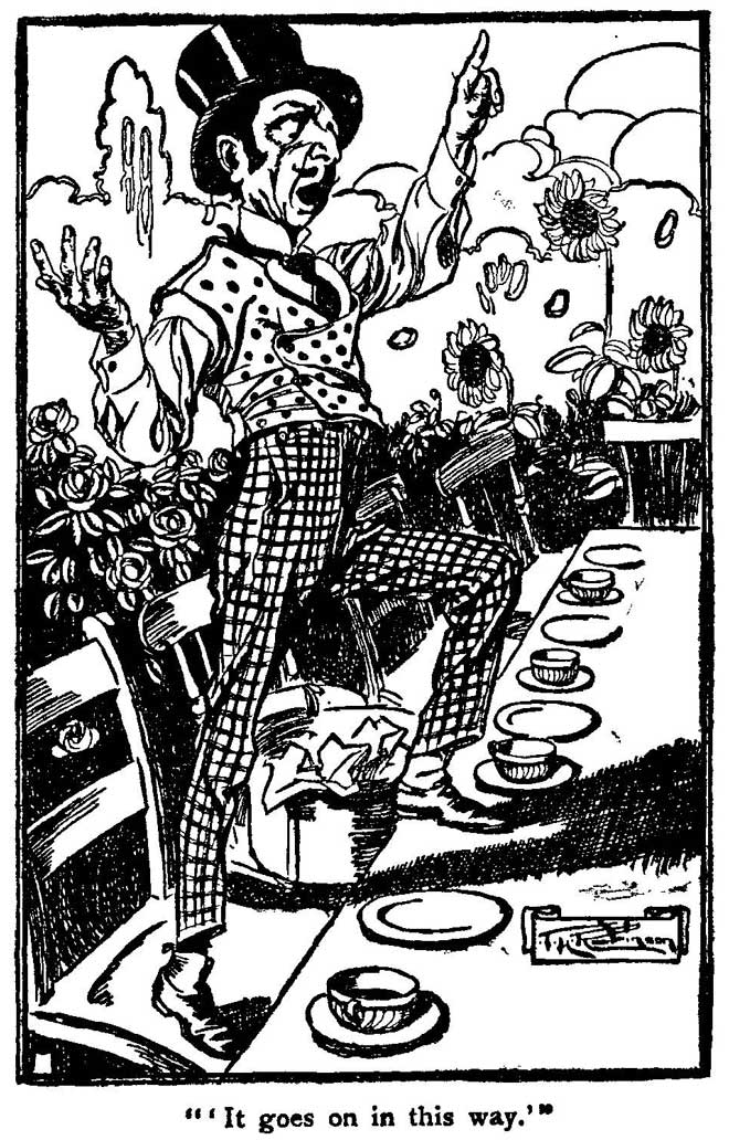 Black and White Hatter - 10 Mad Hatters - T. H. Robinson