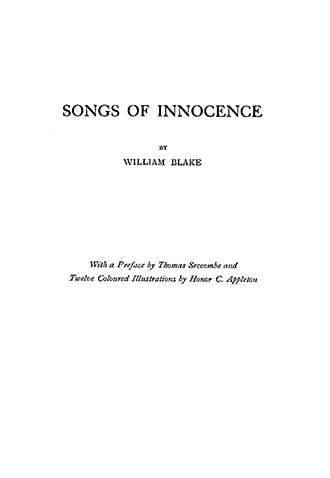 Songs of Innocence - Honor C Appleton