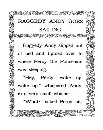 Raggedy Andy Goes Sailing - Johnny Gruelle
