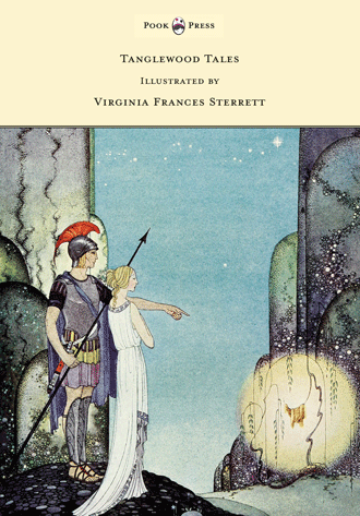 Tanglewood Tales – by Nathaniel Hawthorne illustrated by Virginia Frances Sterrett - cover