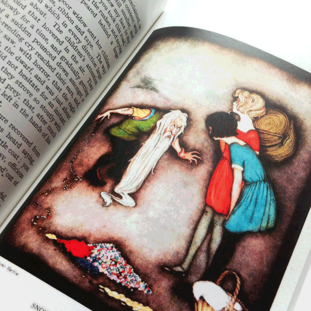 Illustration by Jennie Harbour for Snow-white and the rose-red. From My book of Favourite Fairy Tales.