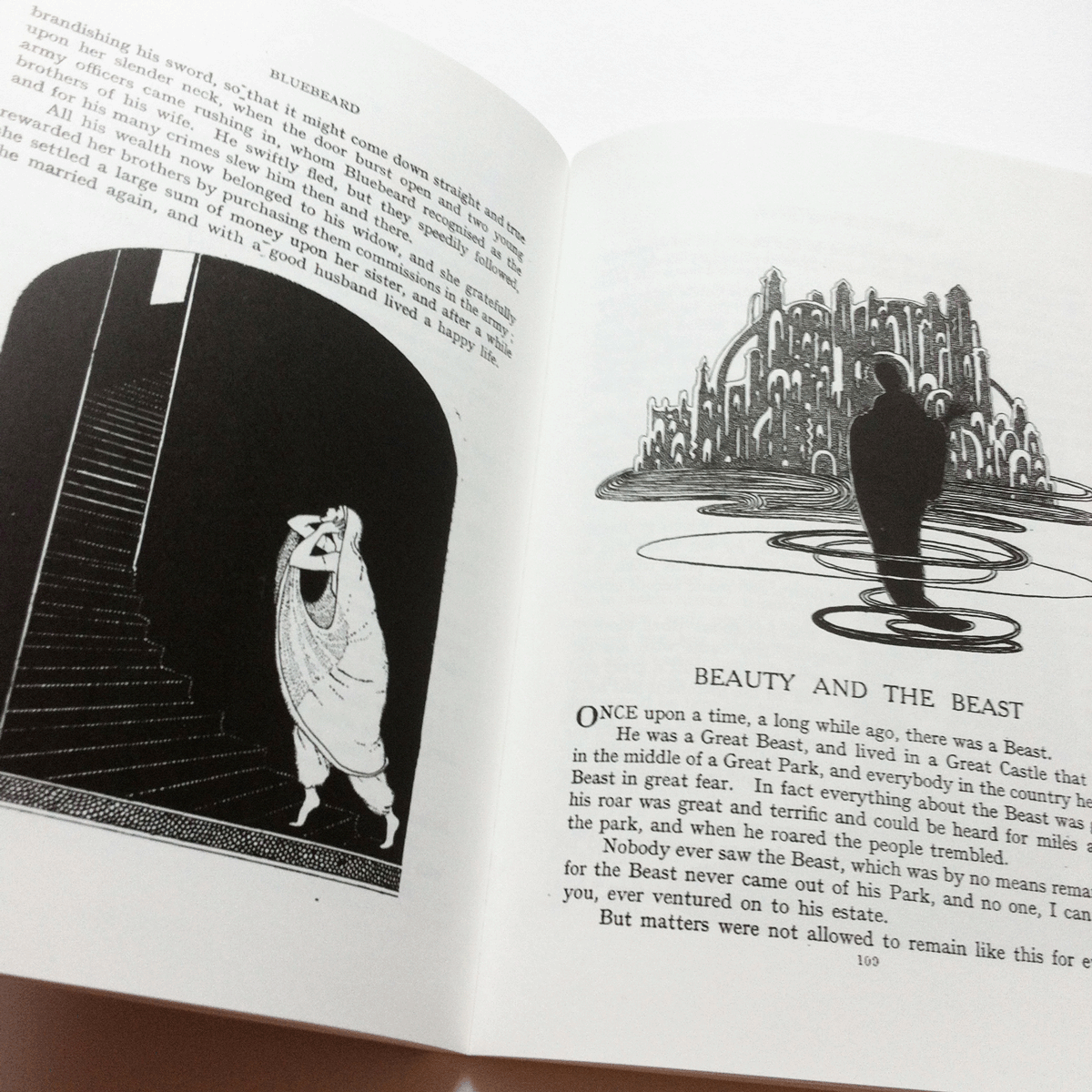 Illustrations by Jennie Harbour for Bluebeard and Beauty and the Beast. From My book of Favourite Fairy Tales.