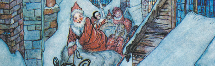 Twas the night before Christmas – with Illustrations by Arthur Rackham