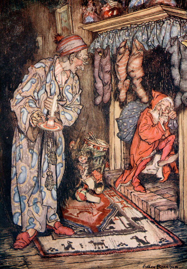 The Night Before Christmas with Arthur Rackham Art