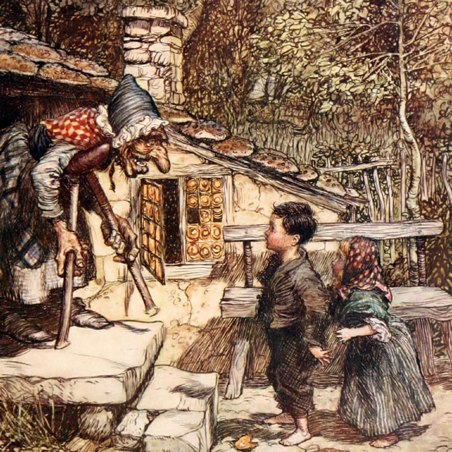 Hansel and Grethel Illustration by Arthur Rackham