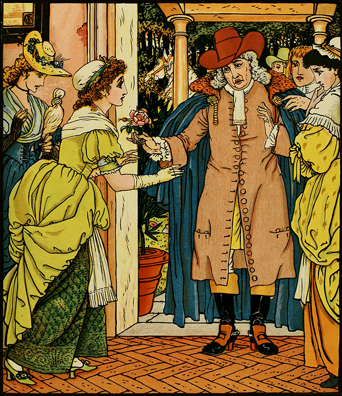 Beauty and the Beast illustration by Walter Crane