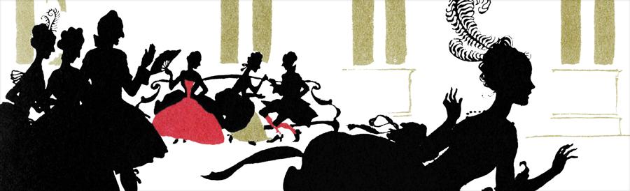 Arthur Rackham's Cinderella Silhouettes