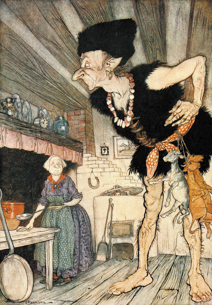 Jack and the Beanstalk, from English Fairy Tales illustrated by Arthur Rackham