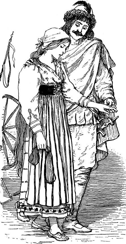 Rumpelstiltskin illustration by Emily J. Harding