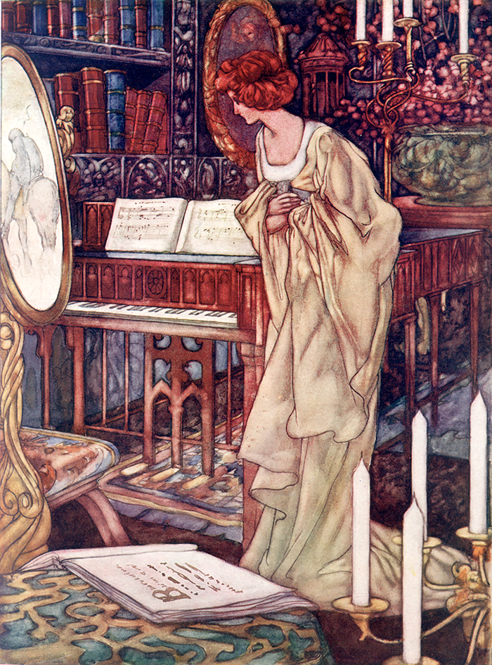 Beauty and the Beast illustration by Charles Robinson