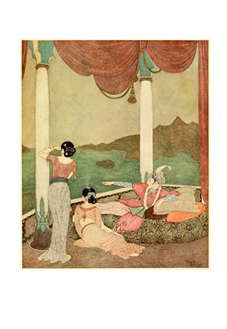 Princess Badoura - A Tale from the Arabian Nights - Illustrated by Edmund Dulac