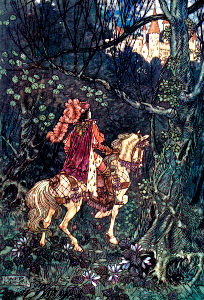 'SLeeping Beauty' – Grimm's Fairy Tales by Charles Folkard.