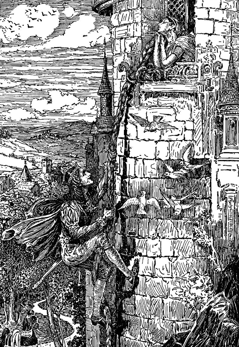 Rapunzel, Brothers Grimm, Louis Rhead